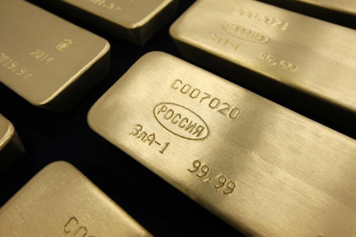 株式市場の上昇や中東の地政学的緊張もあり、金価格は横ばいで推移