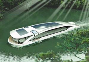 美浜町が開発を目指す観光遊覧船のイメージ図=同町提供