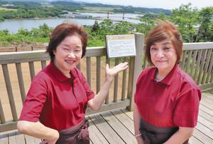 「北潟の良いところを、たくさんの人に知ってほしい」と話す赤神敏江さん(左)と竹嶋一江さん あわら市北潟で