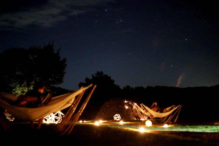 星空ハンモックでみずがめ座 イータ流星群を眺めよう