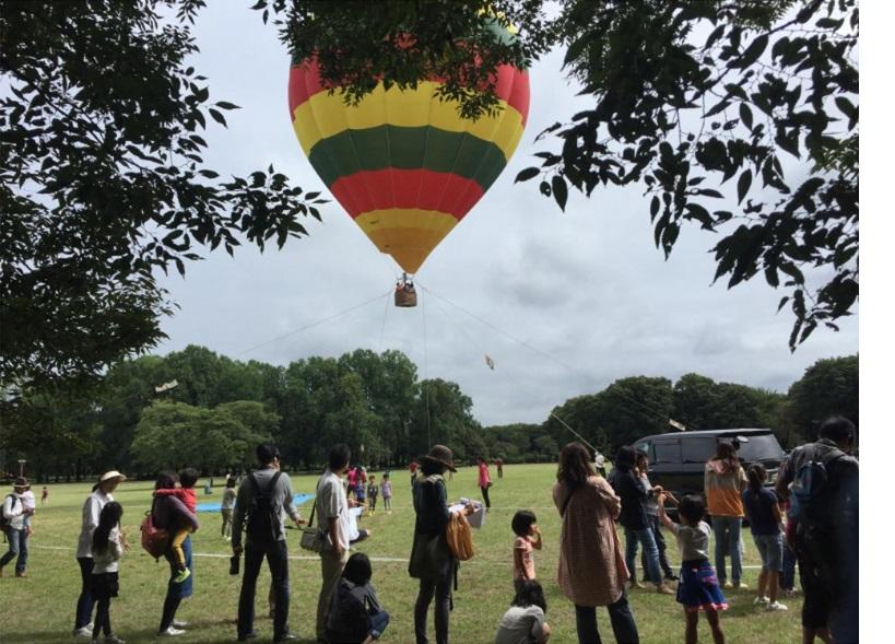 熱気球係留バルーン搭乗体験