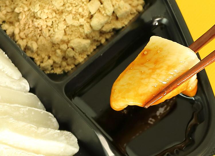 今日のおやつは、大吉餅のあべかわ♪