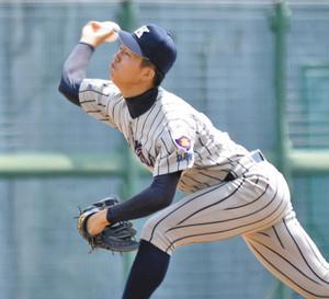 星稜-敦賀気比連戦の疲労もある中、八回を3失点にまとめた敦賀気比の笠島 富山市民球場で