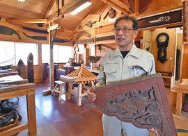 【地域】伝統建築工事 技術残したい 福井の大工・中弥さん 私設博物館