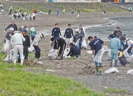 【地域】砂浜と海を守れ 美浜・久々子