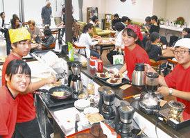 【地域】高校生ら岡保盛り上げ 福井の施設で1日限定カフェ