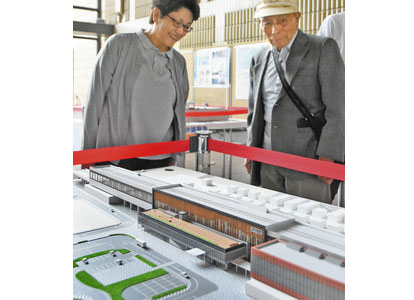 【地域】新幹線4駅舎 コンセプトそれぞれ 県庁で模型展示