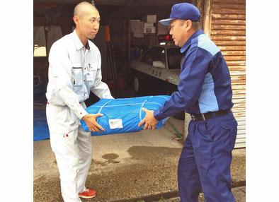 【地域】被災・村上市へ鯖江市が物資 災害時応援協定