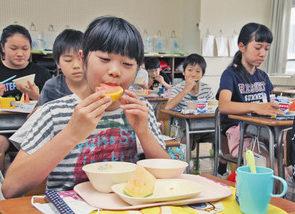【地域】「金福あっさり、銀福甘い」 福井・順化小給食に特産スイカ