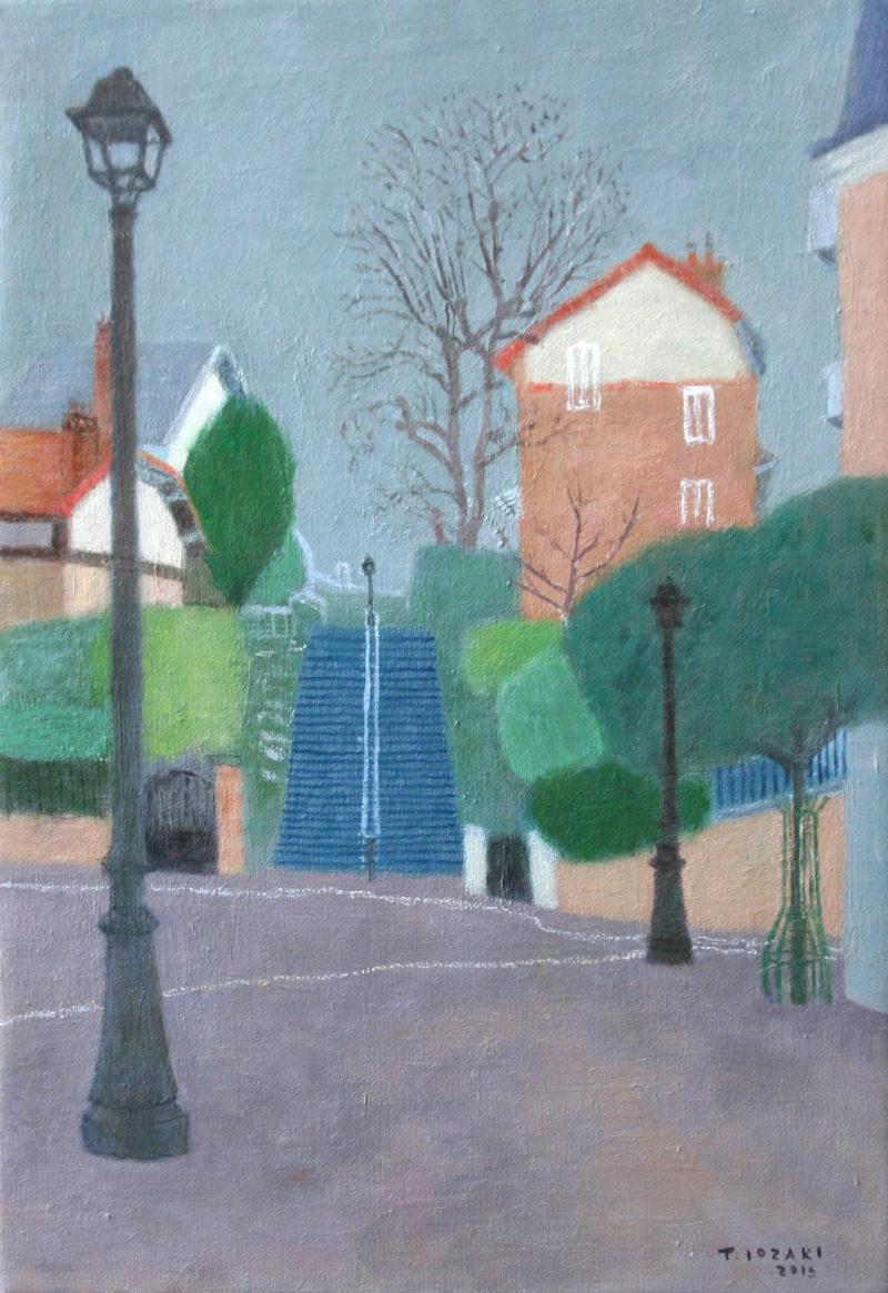 「カンパーニュ・ア・パリの階段とクリスティーヌの家」