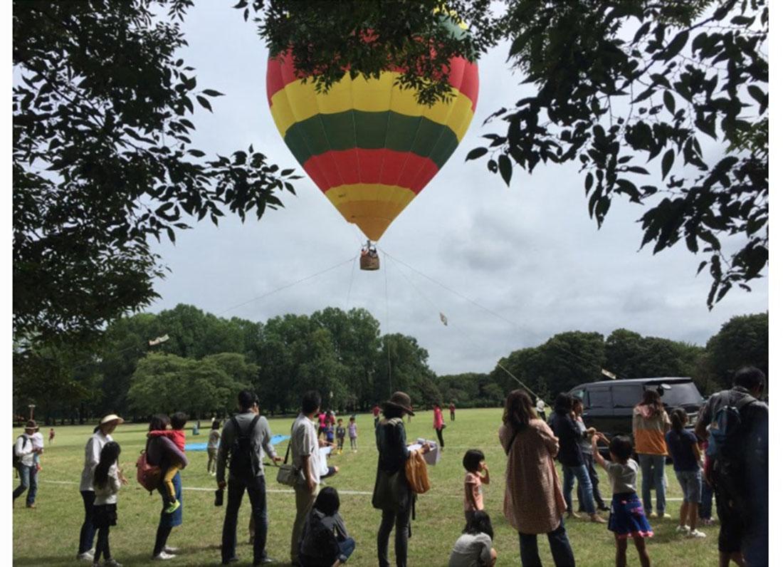 迫力満点!気球に乗って城下町・一乗谷を一望!