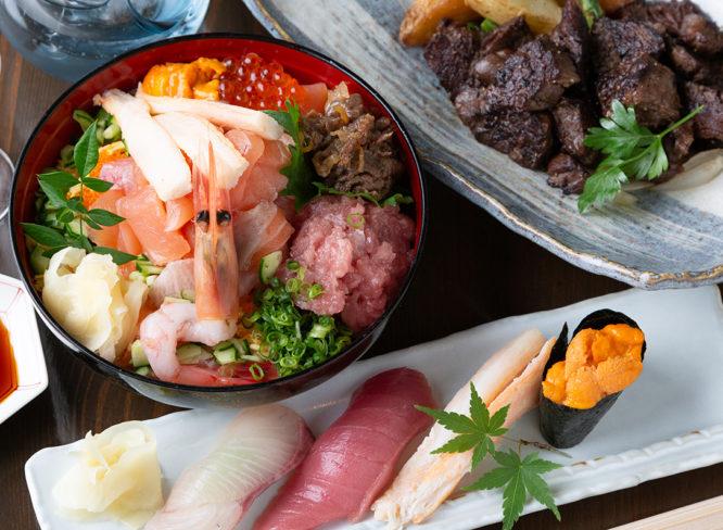 今日はお寿司と肉料理で贅沢三昧しよう!|寿司・和食 はな蔵