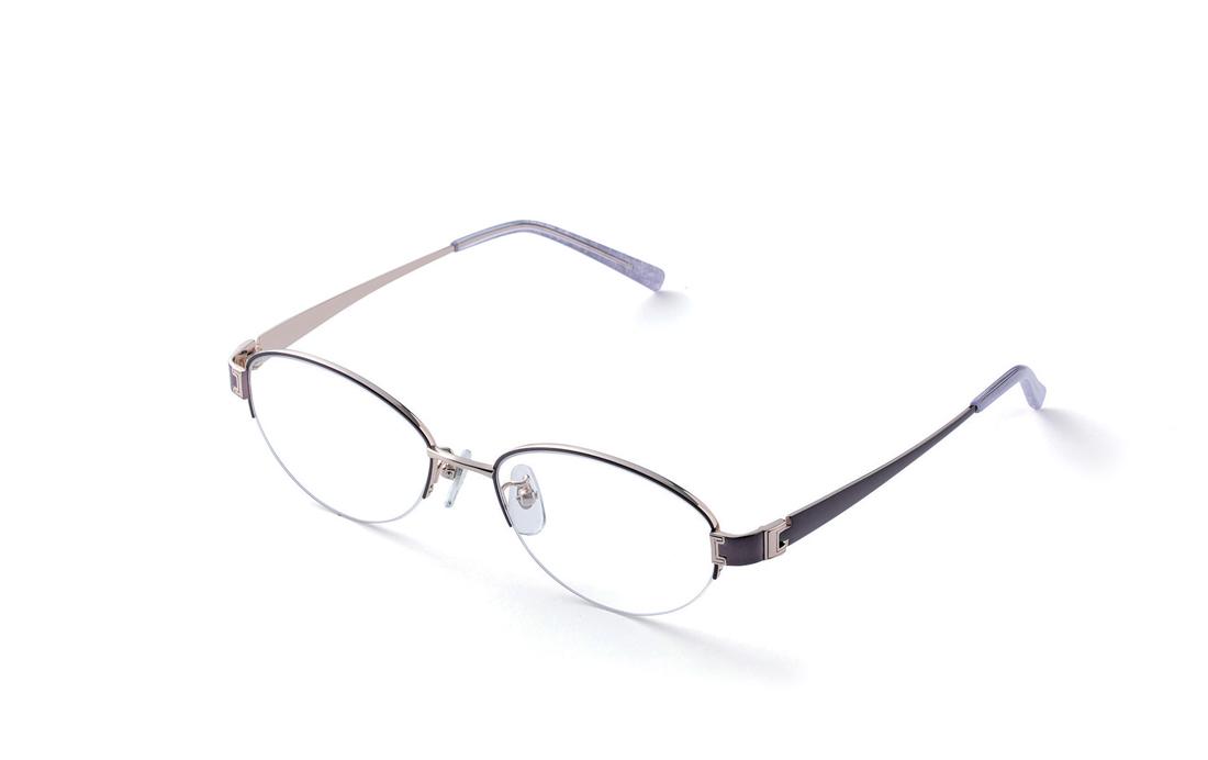 スタンダードなオーバルナイロール。上品なデザインとカラーリングでエレガントなおとなメガネ(10,000円+税)