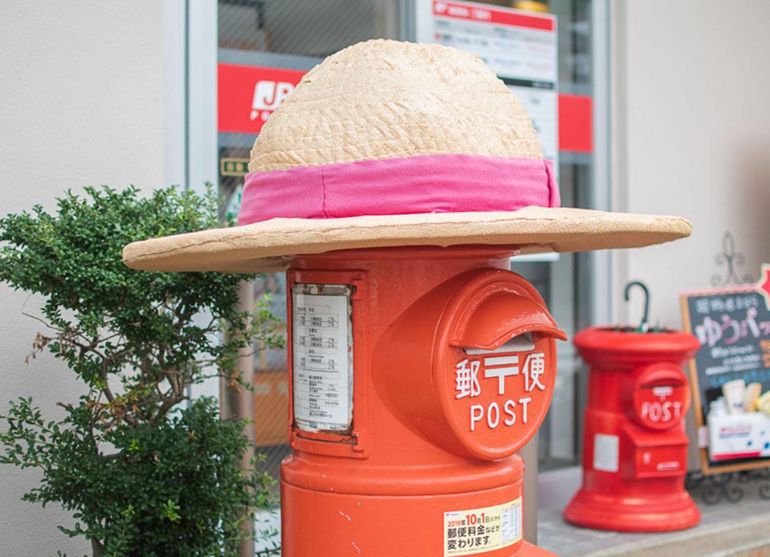"""町の人気者! """"帽子のポストさん""""に会いに行ってきました!"""