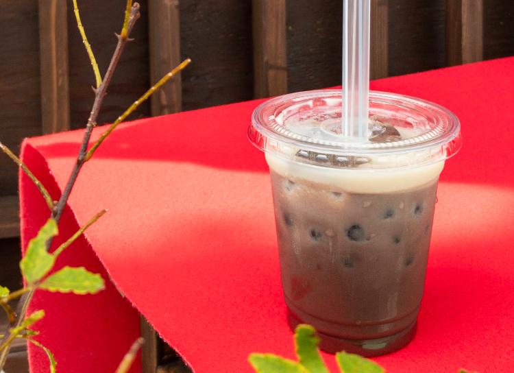 今日のおやつは、江戸町カフェのしるこdeタピオカ♪