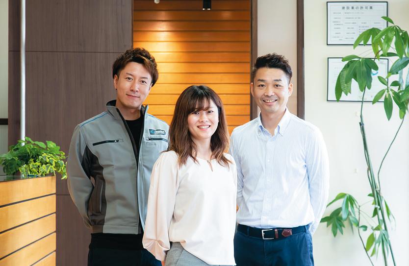 営業、設計、制作の各部署の担当者が協力して案件を担当。福井支店は20~30代の若手が多数活躍中。