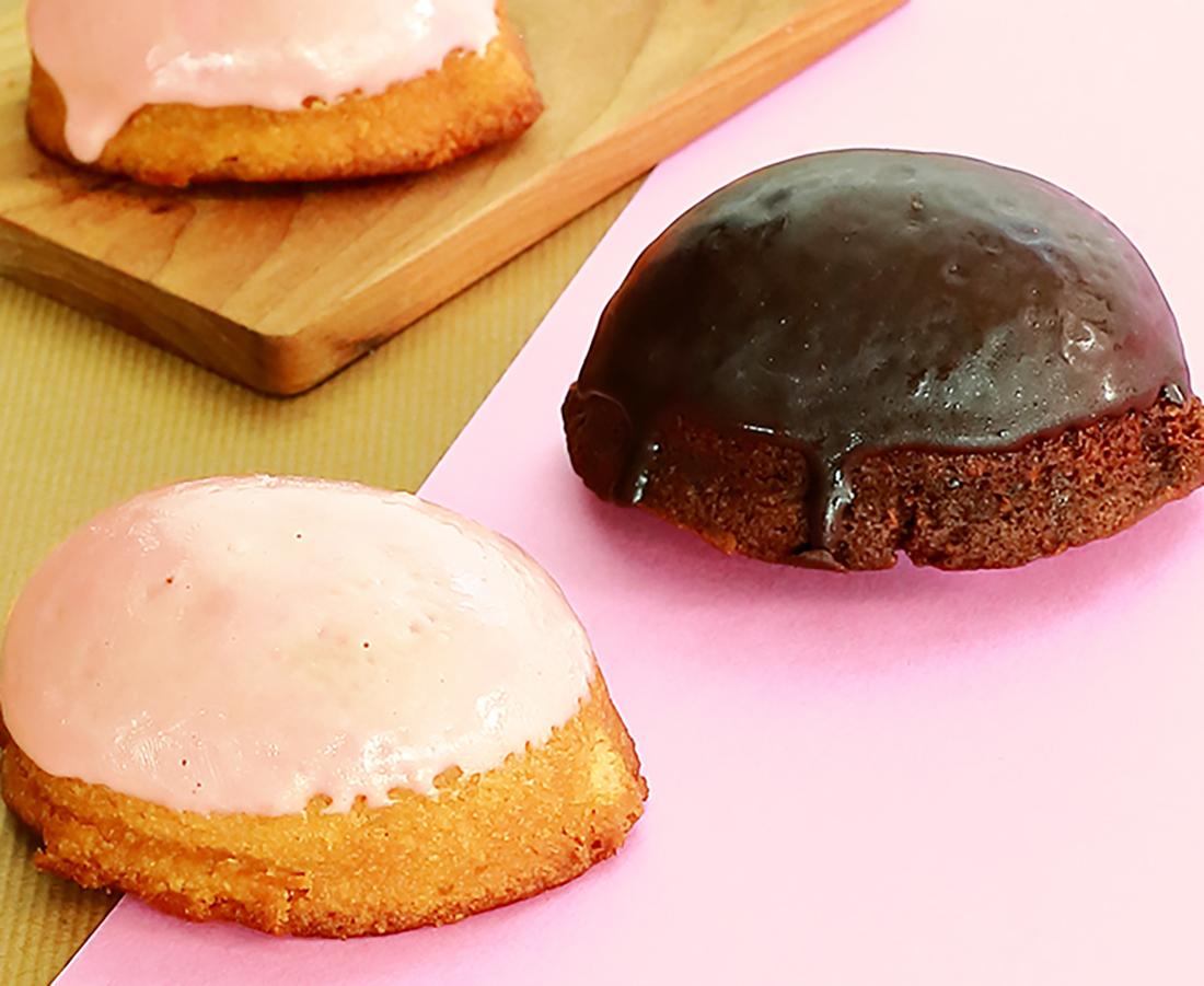 今日のおやつは、PAUTH CAFEの苺・レモンケーキ♪