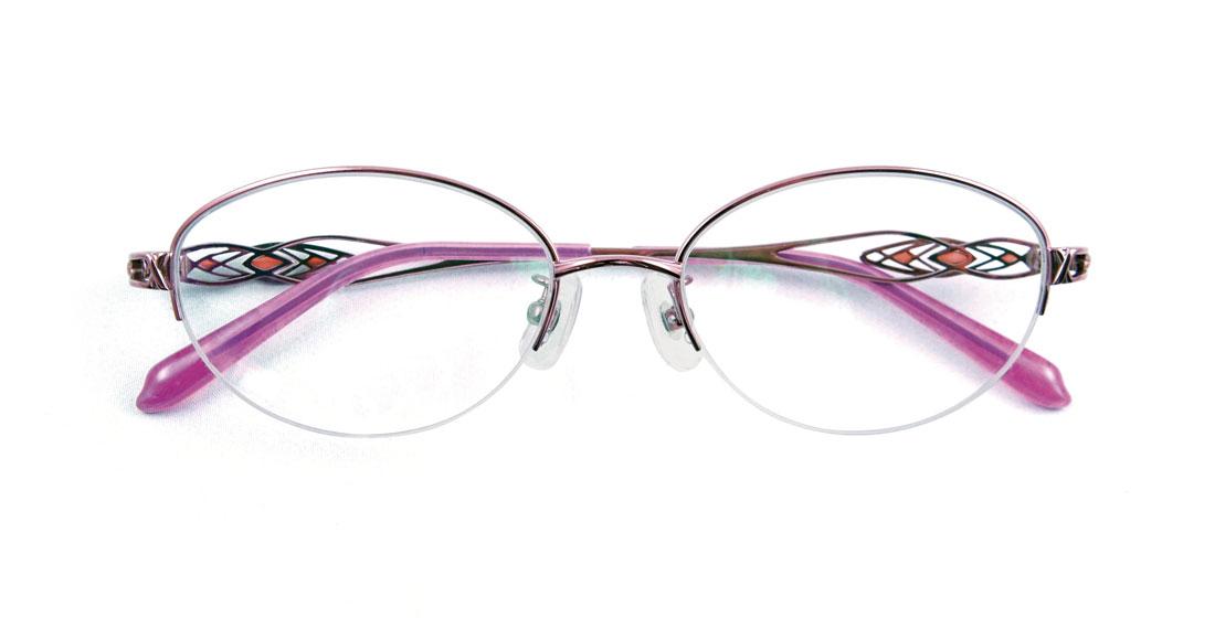 オーバルフレームのナイロールは、上品で可憐な雰囲気が大人の女性を演出してくれます。ピンク&ワイン色のコンビでより目元を艶やかに彩り、サイドテンプルは弾性のあるβチタンを採用し掛け心地も抜群!! こんなメガネが似合う知的な女性は素敵ですね。(10,000円+税)