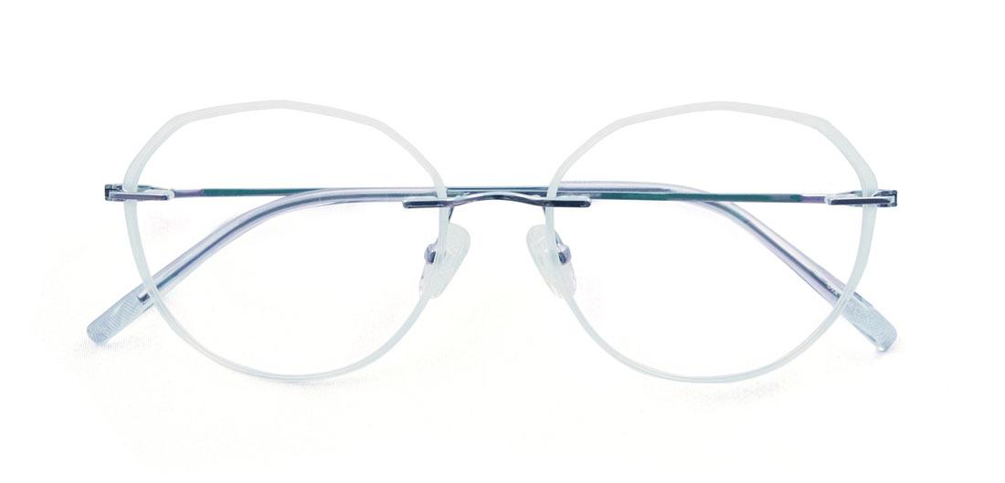シックスフォーが大プッシュでいち押し! ミルキーホワイトのツーポイントフレーム。デザインと掛け心地の両立したお洒落メガネは意外と少なく、本当におすすめです! このフレーム特有のウィークポイントであるレンズのぐらつきですが、レンズ両サイドを2ピンずつ樹脂で留めているので、心配する必要はほとんどありません。(10,000円+税)