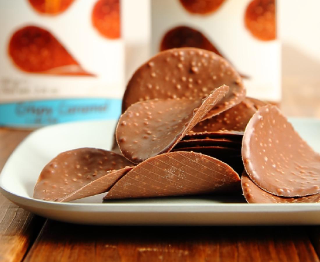 今日のおやつは ヤスブン南四ツ居店で手に入るハムレットのチョコレートチップス♪