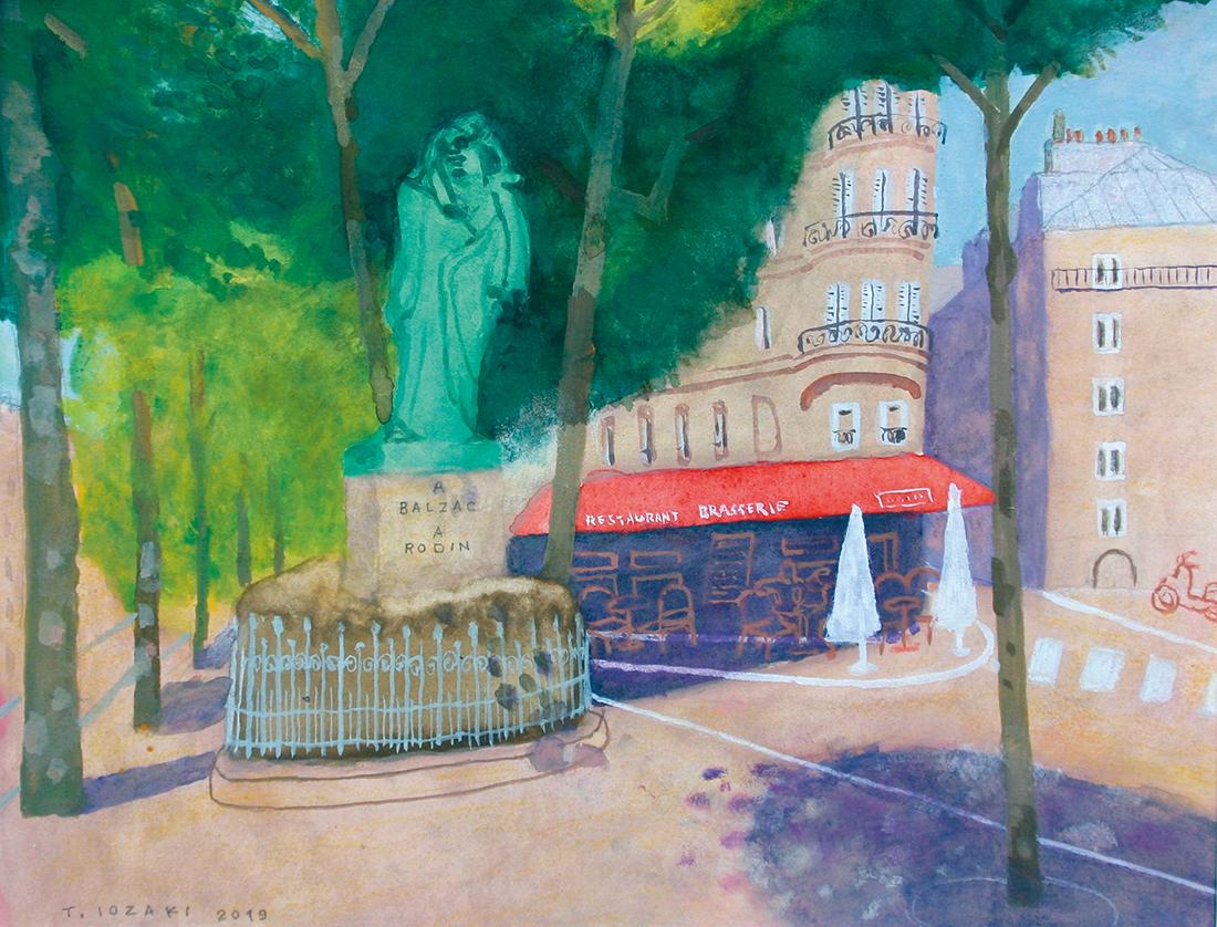 『ロダンのバルザック像とラスパイユ大通り』