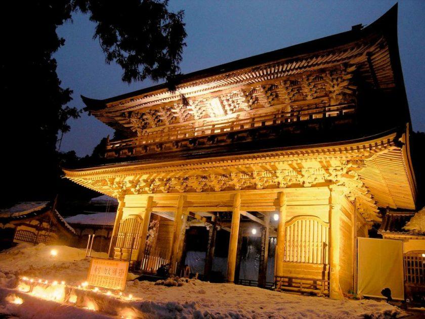 永平寺除夜の鐘とライトアップ