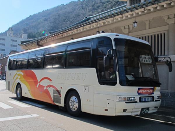 加賀温泉郷 - 永平寺間を運行する「永平寺おでかけ号」
