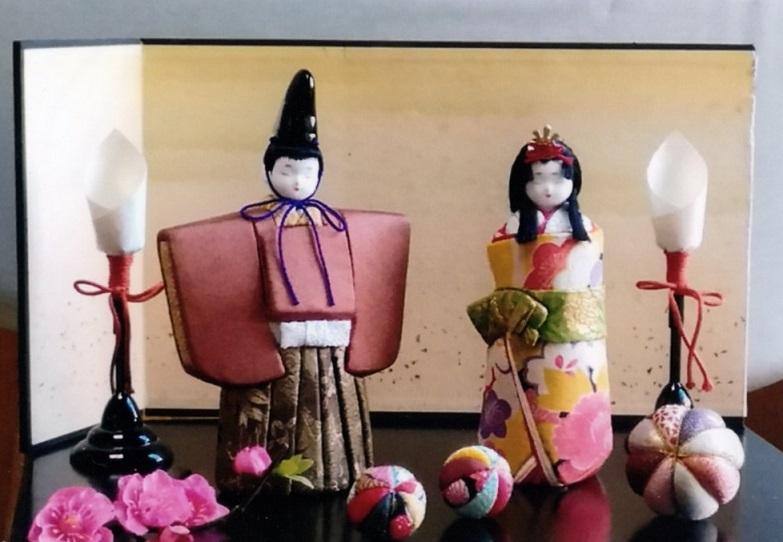 木目込(きめこみ)人形「てまり」作品展