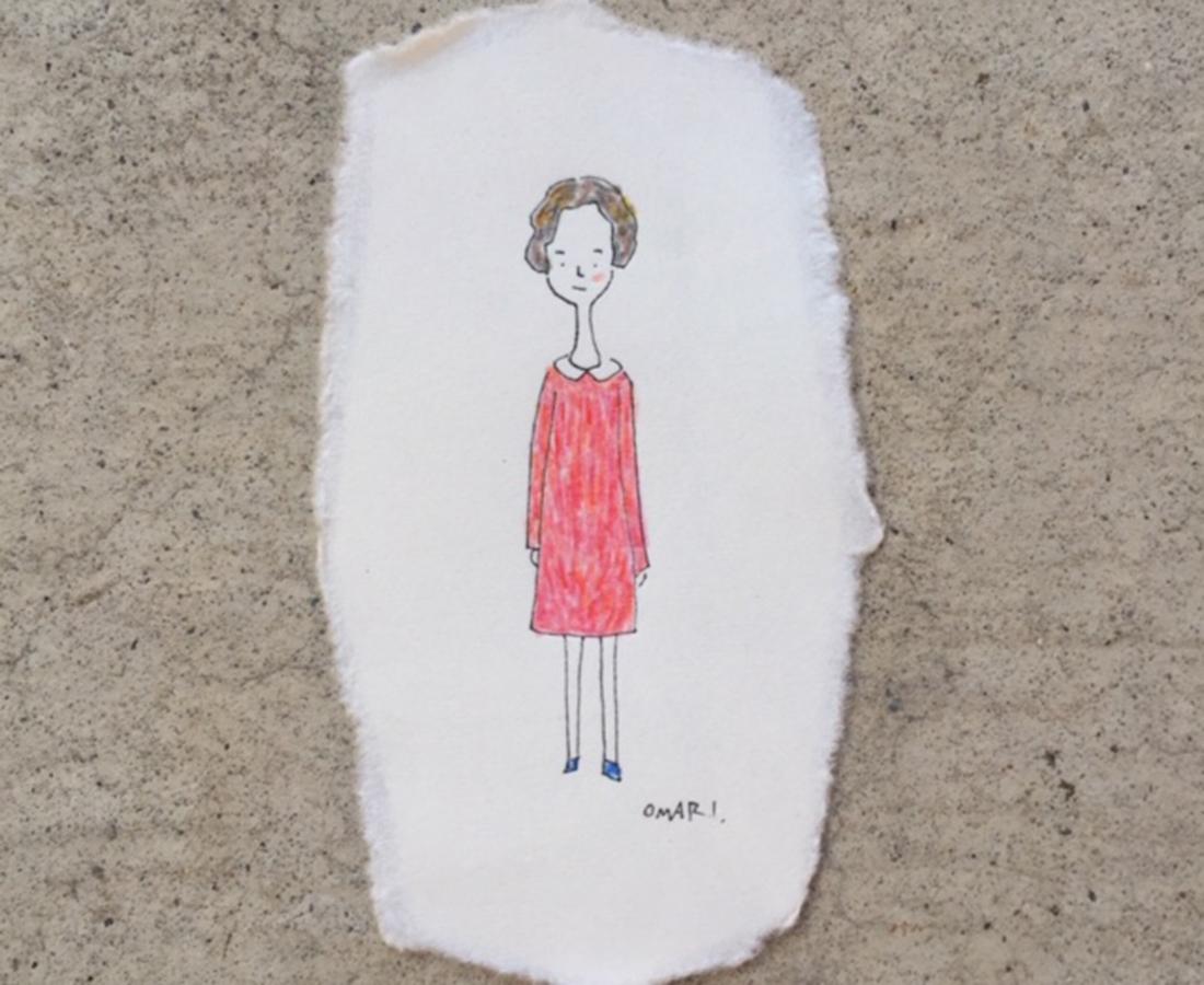 【11/9~】表情豊かな立ち姿の作品たちが、カフェの中でかくれんぼ。「おまりイラスト展」