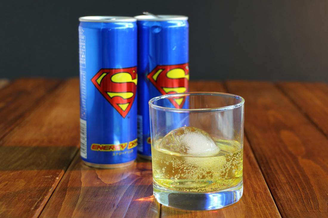 スーパーマンエナジードリンク 281円 / まるまる氷(大) 398円