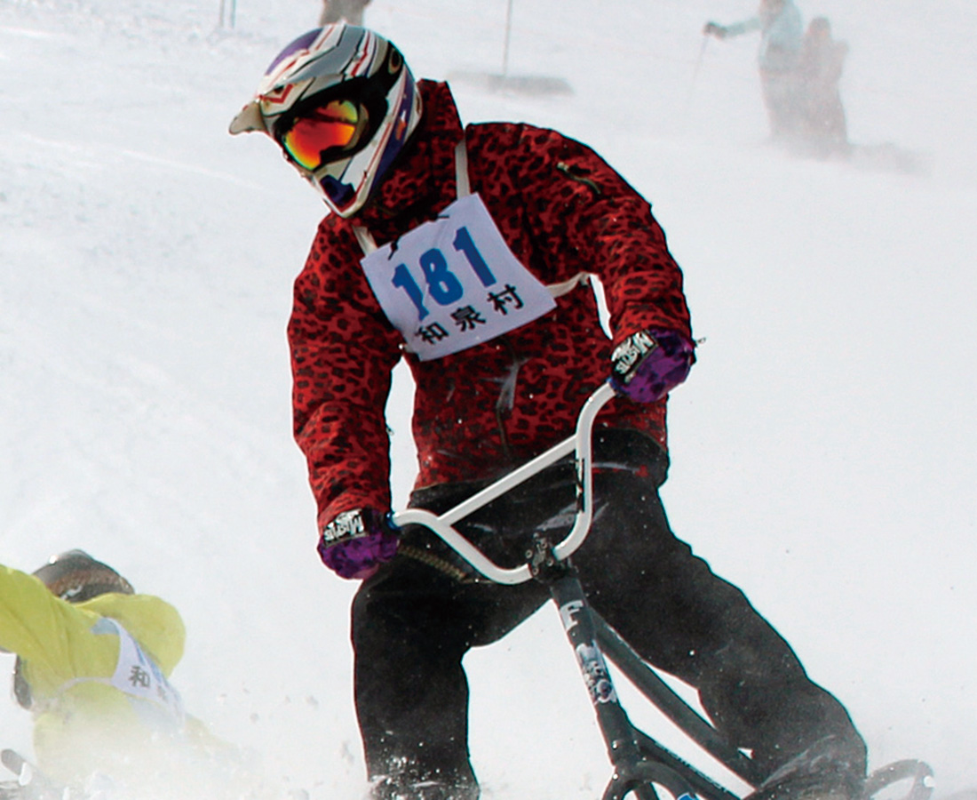 自転車×スノーボード、新感覚のウィンタースポーツ!|福井和泉スキー場