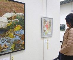 福井で県勤労者美術展始まる 絵画、書道など力作230点