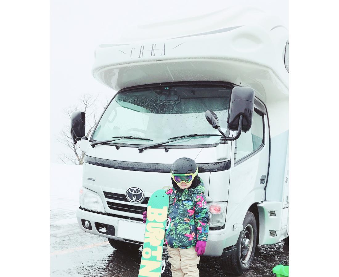冬こそキャンピングカーの 本領発揮!! 気軽なレンタルで キャンプや雪山に出かけよう!!