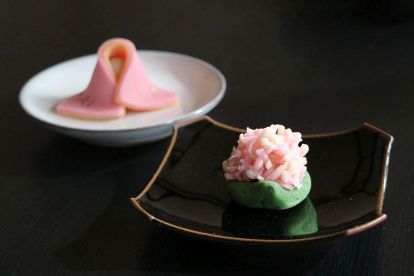 お雛祭りの和菓子作り