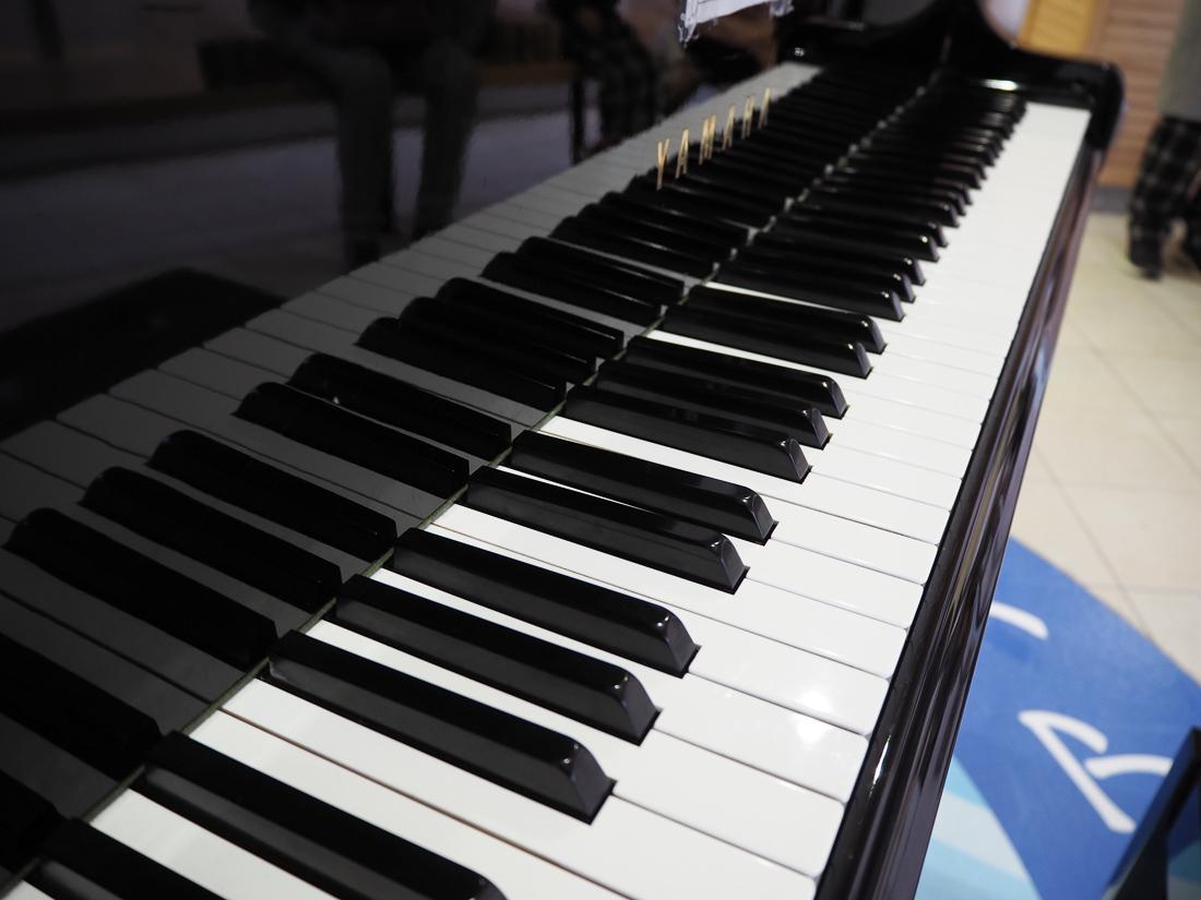 えちぜん鉄道 ストリートピアノ 鍵盤