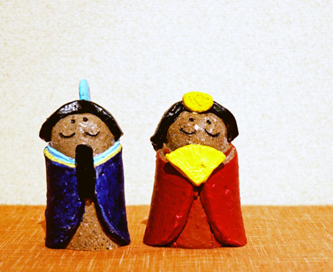 【1/18・19】越前焼の土を使って、風情ある雛人形をつくろう|やきものの雛人形をつくろう