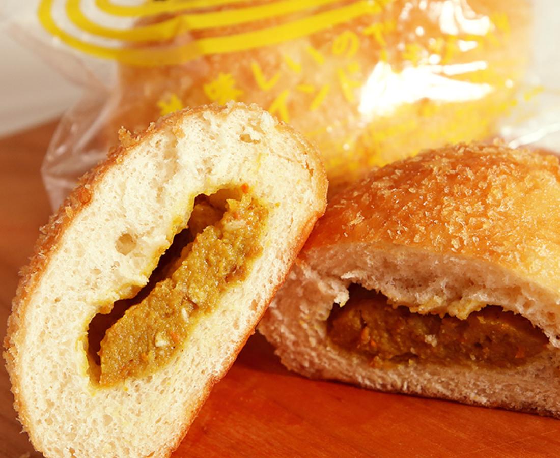 今日のおやつは、オレンジBOXで手に入る『マルサパン』のカレーパン♪