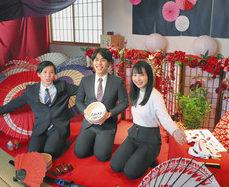 あわら温泉街に映えるフォトスポット 京都外語大生が企画