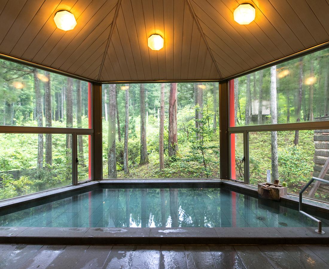 木漏れ日溢れる大自然の雪景色を眺望。│福井市森林温泉 みらくる亭