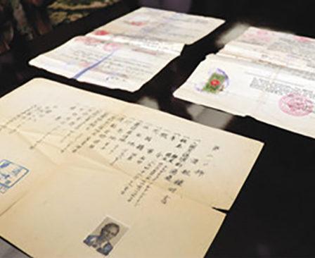 難民の渡航証明書を敦賀市に寄贈 大戦中ポーランドの一家に発行