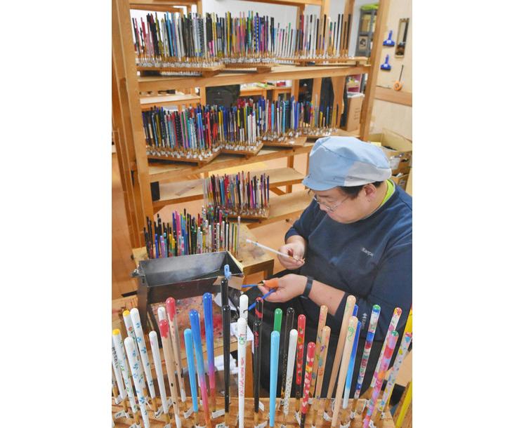 オリジナル卒業箸 小浜で製造ピーク