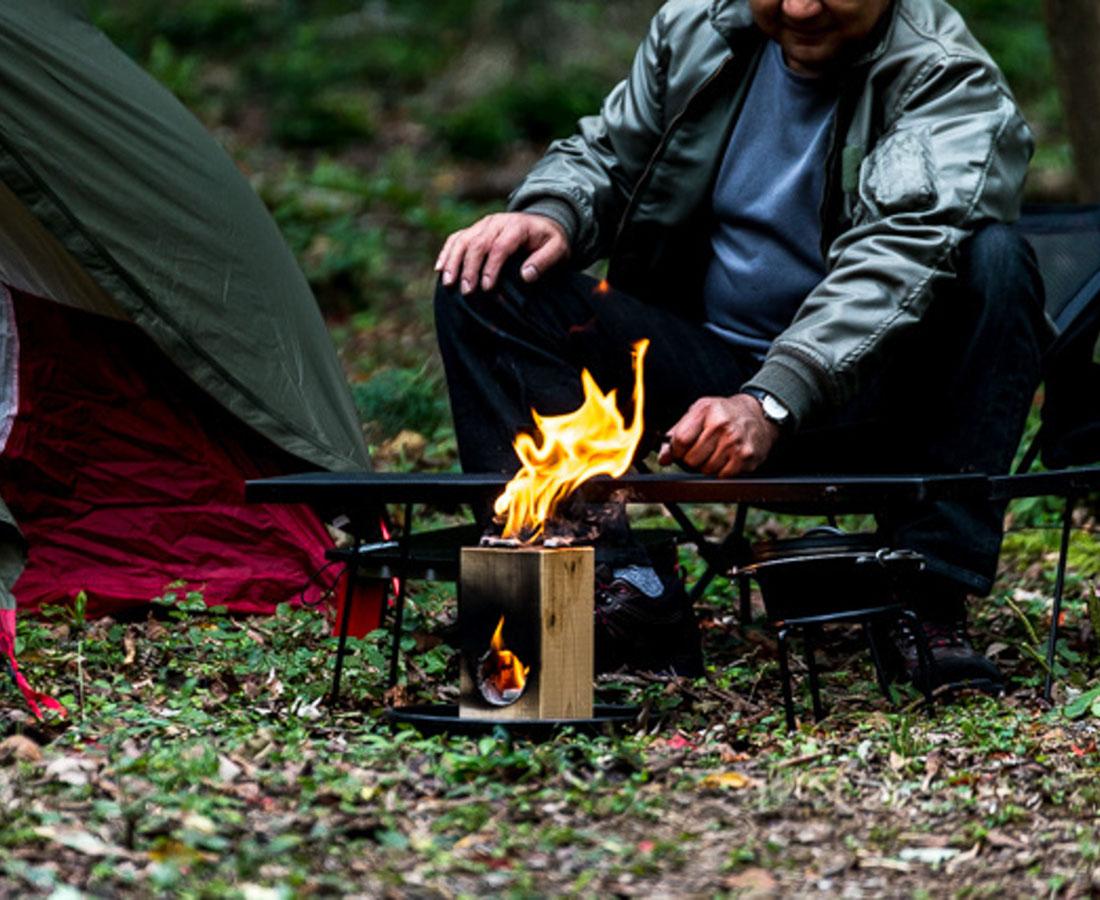 """癒しをもたらす焚き火ブーム到来!? 誰でも簡単! 煙が少ない """"おうち焚き火""""はいかが?"""