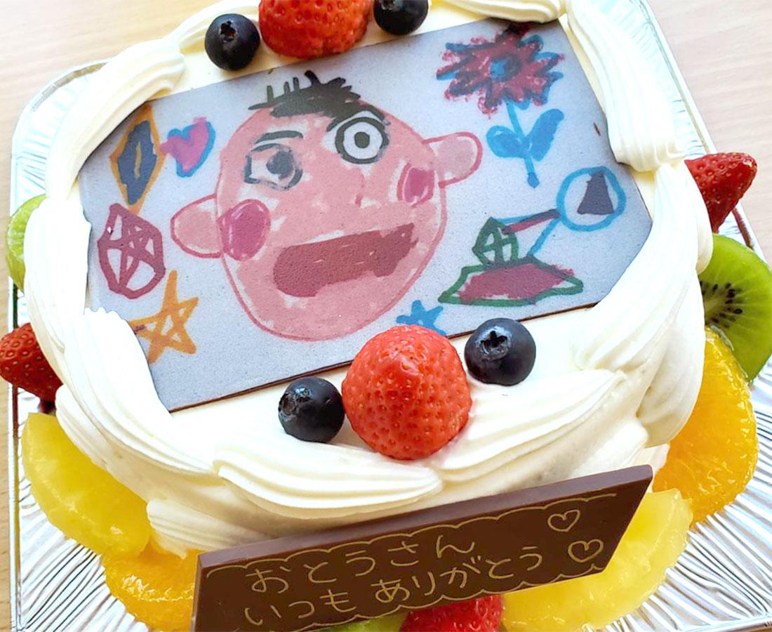 父の日のプレゼントに! パパの似顔絵ケーキ予約受付中|BONO BONO