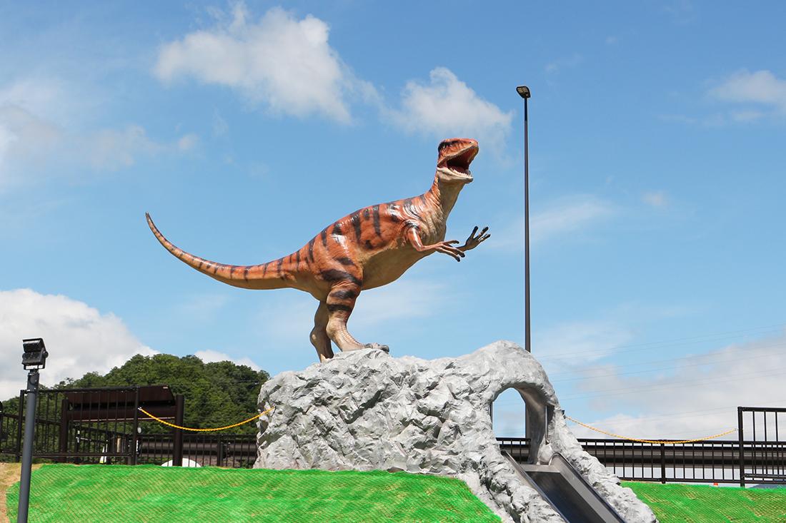 道の駅 恐竜渓谷かつやま恐竜のモニュメン