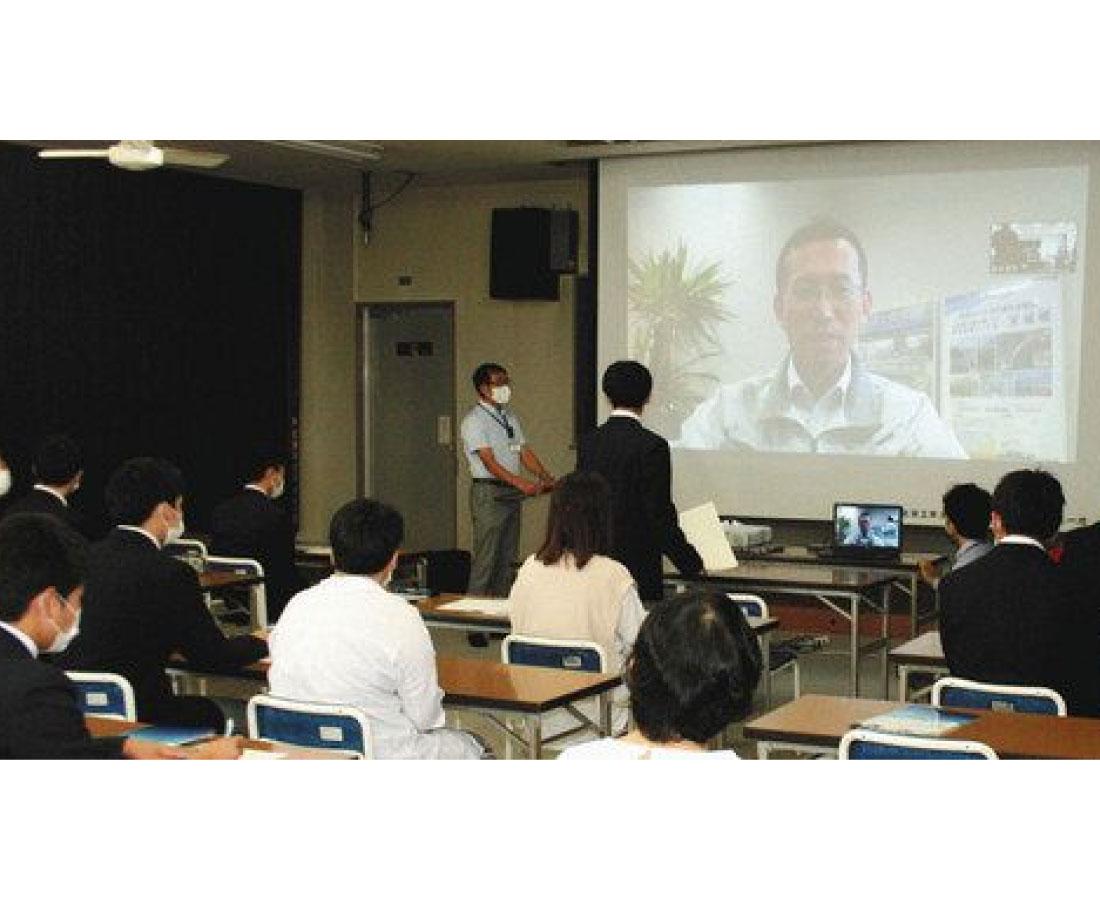 敦賀工高でオンライン企業説明会 37社参加