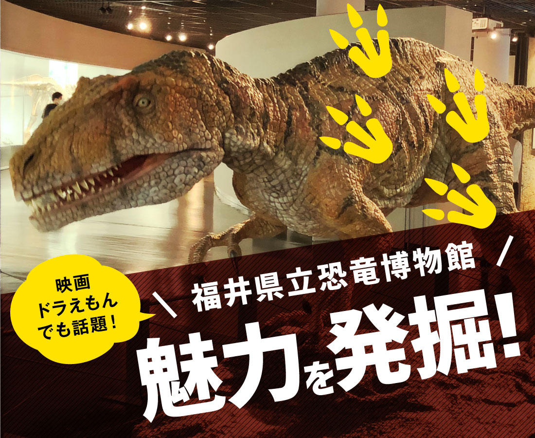 「映画ドラえもん のび太の新恐竜」の学術監修でも話題!『福井県立恐竜博物館』の魅力を発掘!