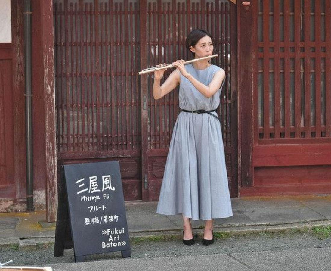 熊川宿に合った音色 県内リレーする音楽会