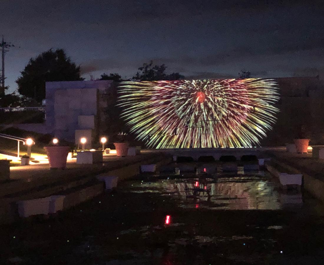 【9/11~】三国花火大会を大迫力の4Kで! 『ゆりの里公園』でプロジェクションマッピング開催!