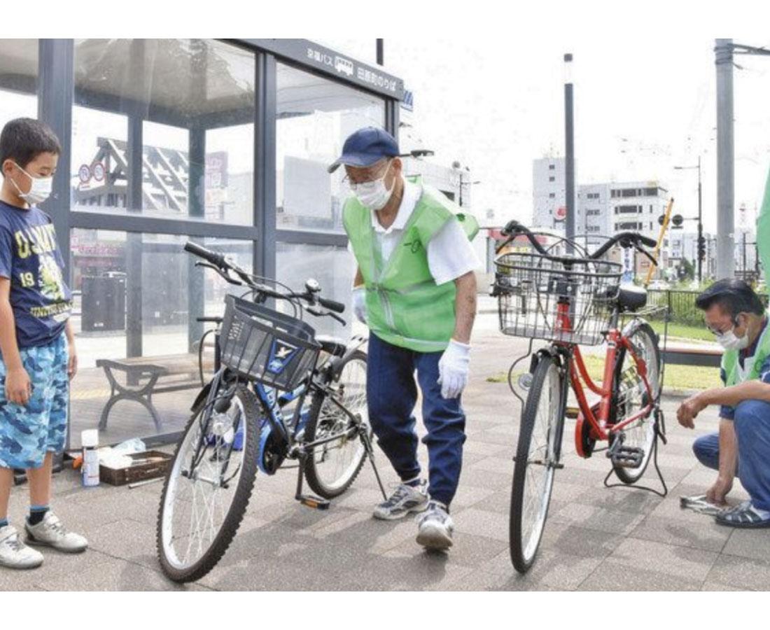車依存しない環境考えて 福井 自転車点検や駅周辺ラリー