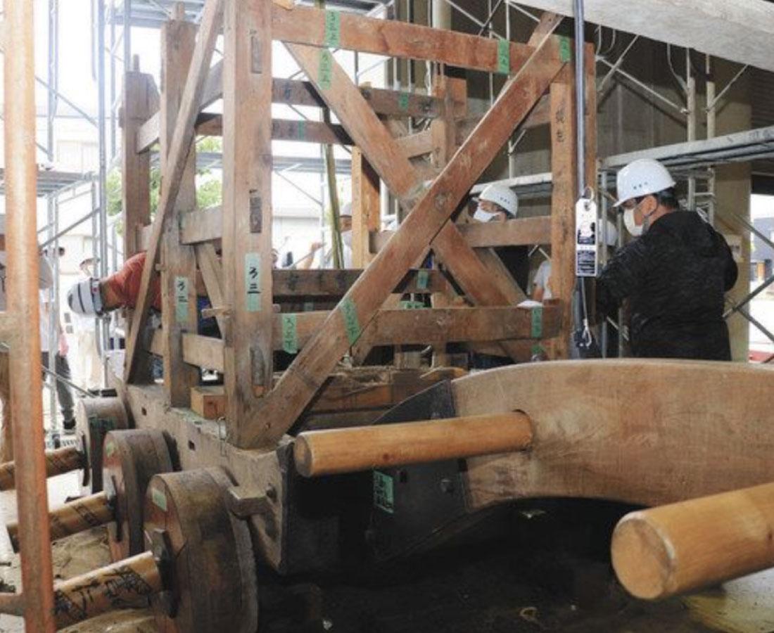 敦賀まつり、山車解体 市文化財登録目指し調査へ
